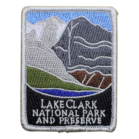 "Lake Clark National Park Patch - Preserve, Alaska, AK Badge 3"" (Iron on)"