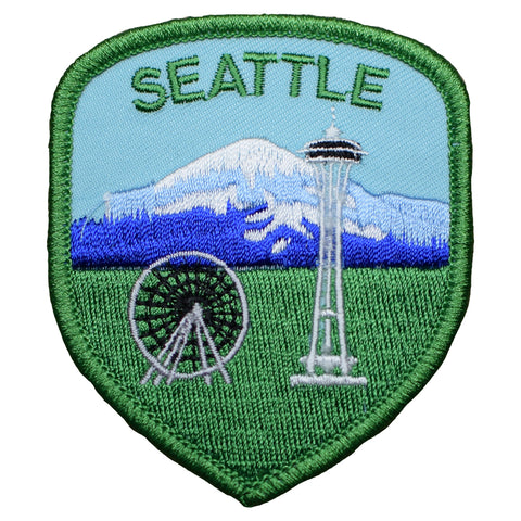 "Seattle Patch - Washington, Mount Rainier Badge 3"" (Iron on)"
