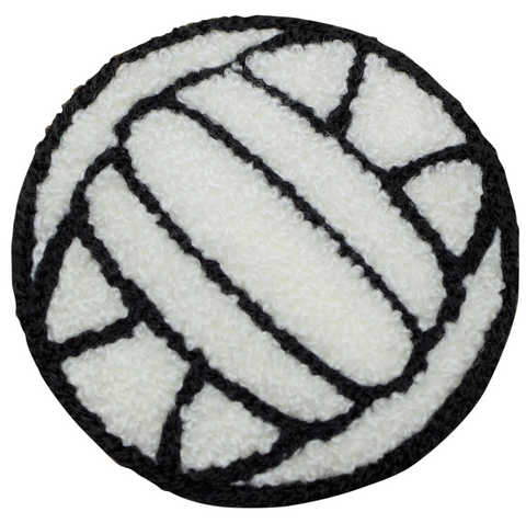 "Volleyball Applique Patch - Chenille, Sports Ball, Athletic Badge 2.25"" (Iron on)"