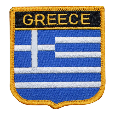 "Greece Patch - Hellenic Republic, Hellas, Athens, Thessaloniki 2.75"" (Iron on)"