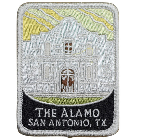 "The Alamo Patch - San Antonio, Texas, TX Mission Badge 3"" (Iron on)"
