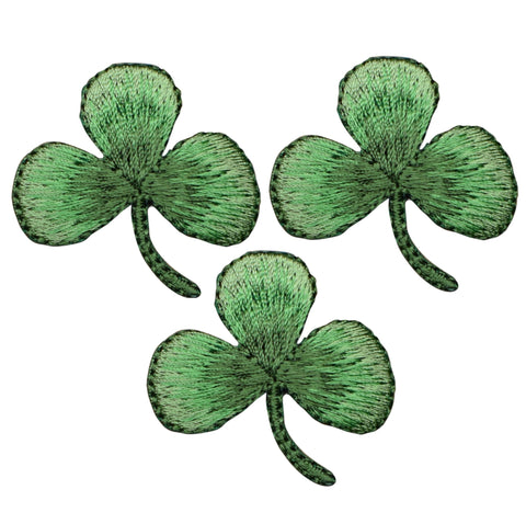 "Shamrock Applique Patch - Clover, Good Luck Badge 1.5"" (3-Pack, Iron on)"