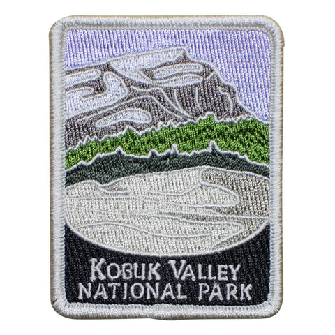 "Kobuk Valley National Park Patch - Arctic Circle, Kotzebue, Alaska 3"" (Iron on)"