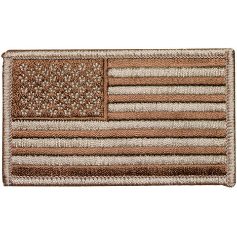"American Flag Patch - Desert Camo, DCU, United States, USA 3-3/8"" (Iron on)"