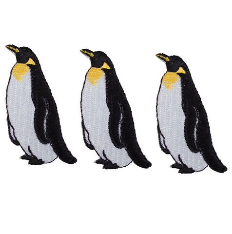 "Penguin Applique Patch - Water Bird, King Penguin Badge 2-3/8"" (3-Pack, Iron on)"