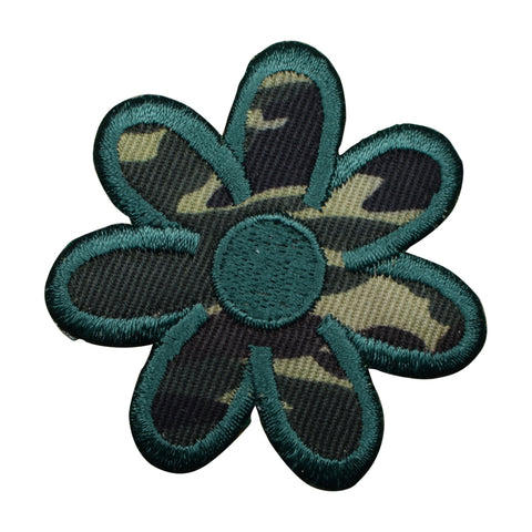 Camouflage Daisy Flower Applique Patch Iron on
