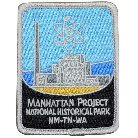 "Manhattan Project Patch - New Mexico, Tennessee, Washington 3"" (Iron on)"