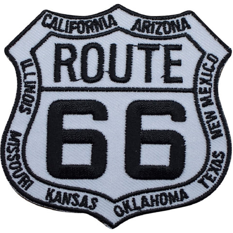 "Route 66 Applique Patch - 8 States, US Rt 66 Badge 3"" (Iron on)"