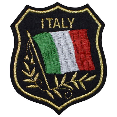 "Italy Applique Patch - Italia, Mediterranean, Europe, Rome 3.25"" (Iron on)"