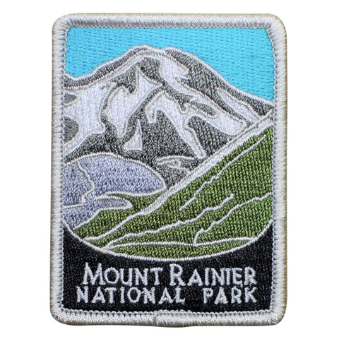 "Mount Rainier National Park Patch - Cascade Range, Washington 3"" (Iron on)"