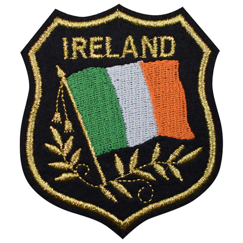 "Ireland Patch - Belfast, Dublin, United Kingdom, Mylar, Flag 3.25"" (Iron on)"