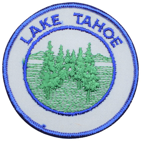 "Vintage Lake Tahoe Patch - California, Nevada, Nature, Hiking Badge 3"" (Sew on)"