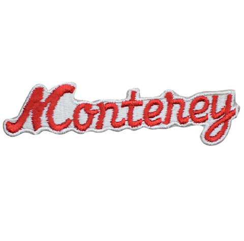 Vintage Monterey California Patch - Red and White  (Iron On)