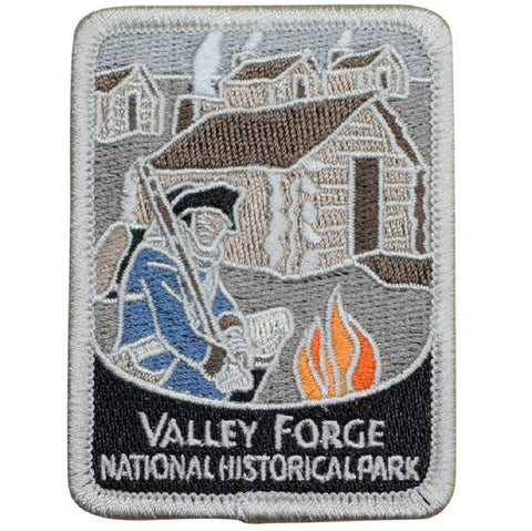 "Valley Forge Patch -  National Park Pennsylvania Revolutionary War 3"" (Iron on)"