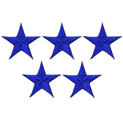 "Star Applique Patch - Royal Blue 1.5"" (5-Pack, Iron on)"
