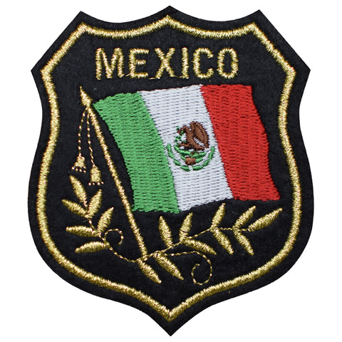 "Mexico Patch - Gulf of Mexico, Baja California, Caribbean 3.25"" (Iron on)"