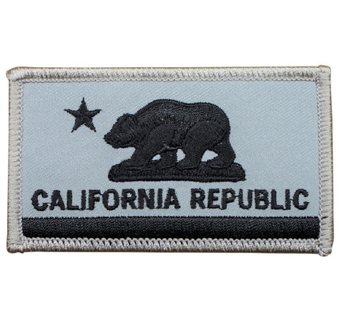 "California Patch - Grizzly Bear, CA Republic Flag Badge 3.25"" (Iron on)"