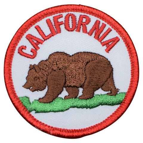 "California Patch - Grizzly Bear, CA Badge 2.5"" (Iron on)"
