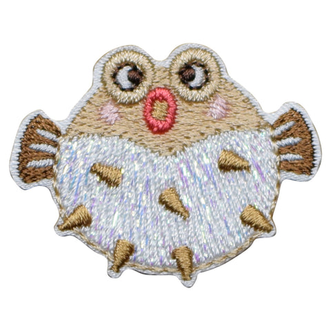 "Puffer Fish Applique Patch - Balloonfish, Blowfish, Bubblefish 1.5"" (Iron on)"