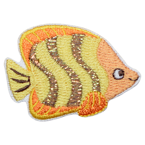 "Fish Applique Patch - Ocean, Tropical Fish Badge 1-5/8"" (Iron on)"