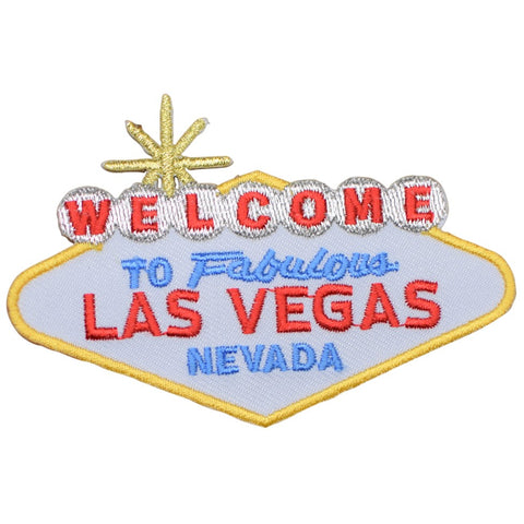 "Las Vegas Patch - Nevada, Sin City Sign NV Badge 3-3/8"" (Iron on)"