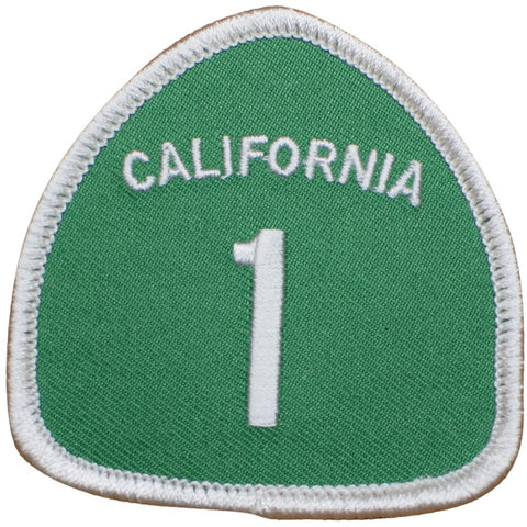 "Highway 1 California Patch - CA Hwy One, Big Sur, Santa Cruz, San Francisco, Carmel 2.5"" (Iron On)"