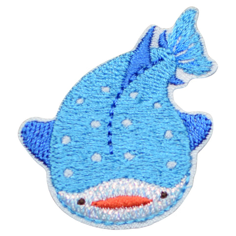 "Whale Applique Patch - Ocean Badge 1-3/4"" (Iron on)"