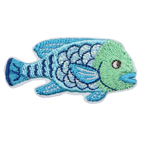 "Fish Applique Patch - Ocean, Tropical Fish Badge 2"" (Iron on)"
