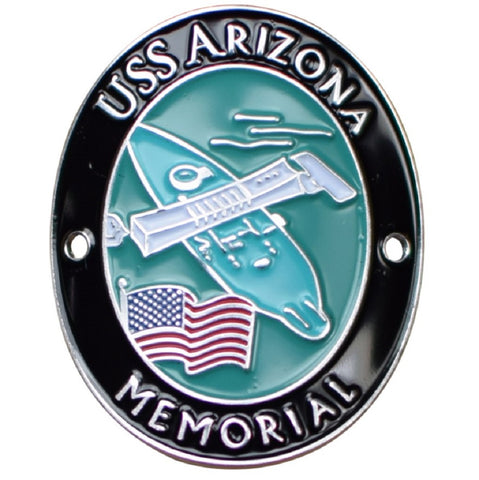 USS Arizona Memorial Walking Stick Medallion - US Navy Battleship, Pearl Harbor, Hawaii, HI