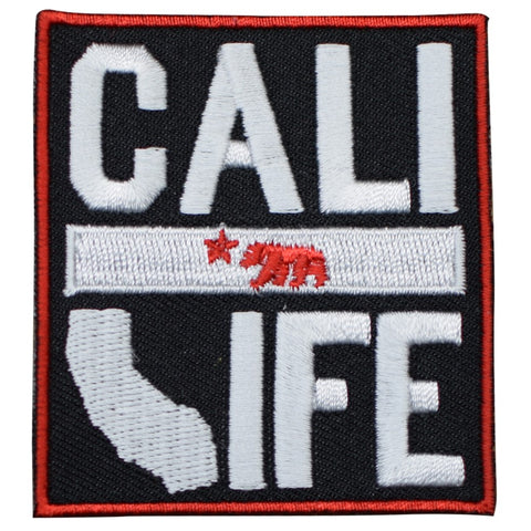 "California Patch - Cali Life, CA Grizzly Bear, Star 2-15/16"" (Iron on)"