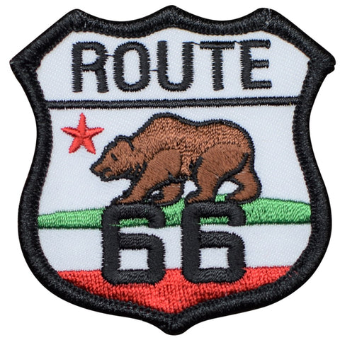 "California Route 66 Patch - Los Angeles, Santa Monica, CA 2.5"" (Iron on)"