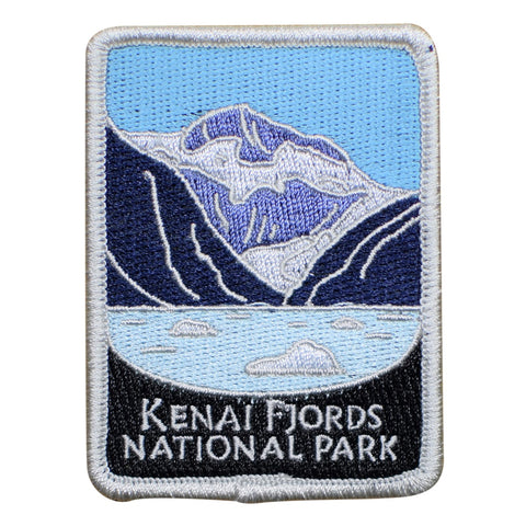 "Kenai Fjords National Park Patch - Seward, Exit Glacier, Alaska 3"" (Iron on)"