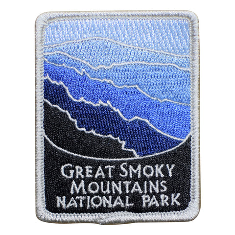 "Great Smoky Mountains National Park Patch - Appalachian Trail Badge 3"" (Iron on)"