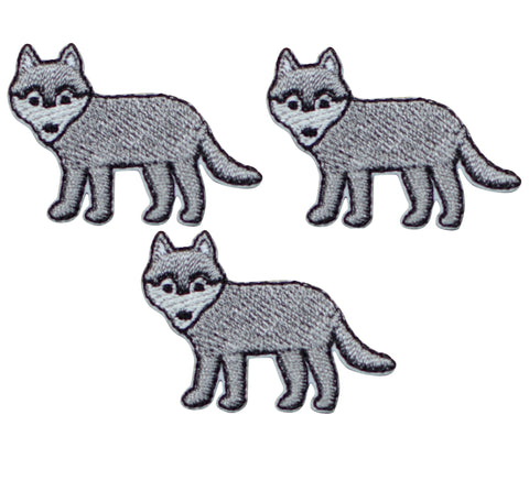 "Mini Fox Applique Patch - Dog, Animal Badge 1.25"" (3-Pack, Iron on)"