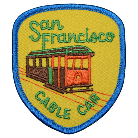 "San Francisco Patch - California, Cable Car, CA Badge 3"" (Iron on)"