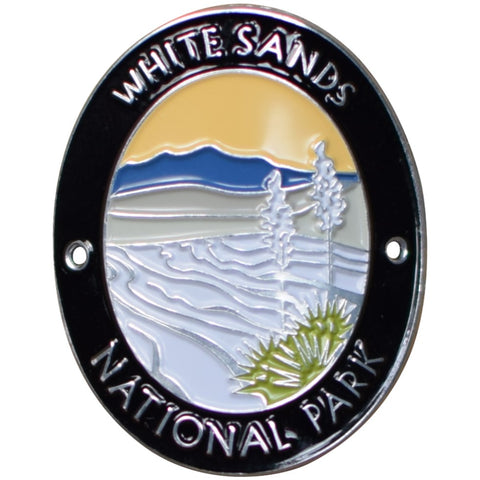 White Sands National Park Walking Stick Medallion - New Mexico, NM Hiking Badge