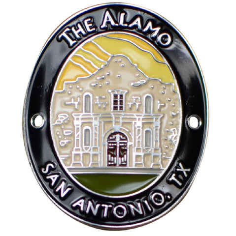 The Alamo Walking Stick Medallion - San Antonio, Texas, TX, Mission San Antonio de Valero - Official Traveler Series