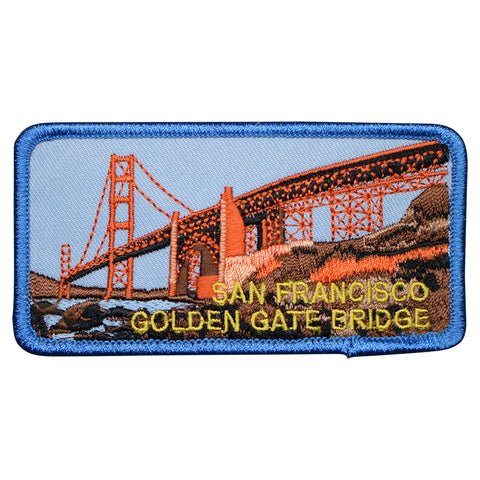"San Francisco Patch - Golden Gate Bridge, California Badge 4"" (Iron on)"