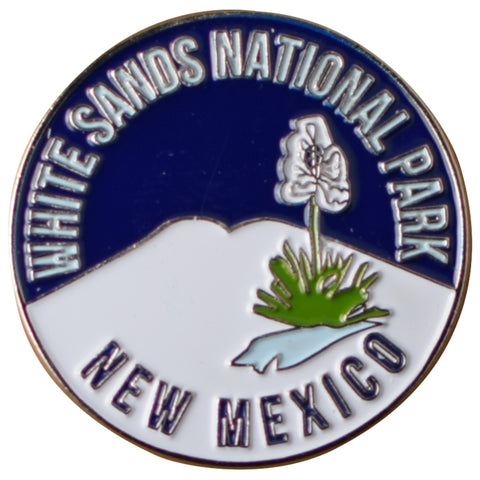 White Sands National Park Pin - New Mexico, NM Badge, Rubber Fastener 1.25""