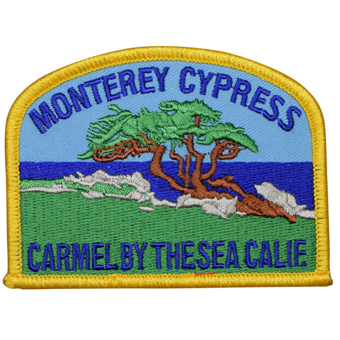 "Carmel Patch - California, Monterey Bay, Cypress Badge 3.5"" (Iron on)"