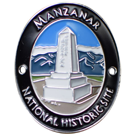 Manzanar National Historic Site Walking Stick Medallion - War Relocation Center, Japanese Americans - Official Traveler Series