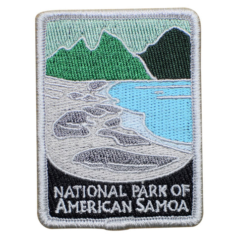 "American Samoa National Park Patch - Tutuila, Manu'a, Rose Atoll 3"" (Iron on)"