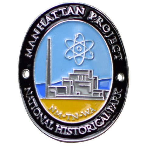 Manhattan Project Walking Stick Medallion - National Historic Park, New Mexico, Tennessee, Washington - Official Traveler Series