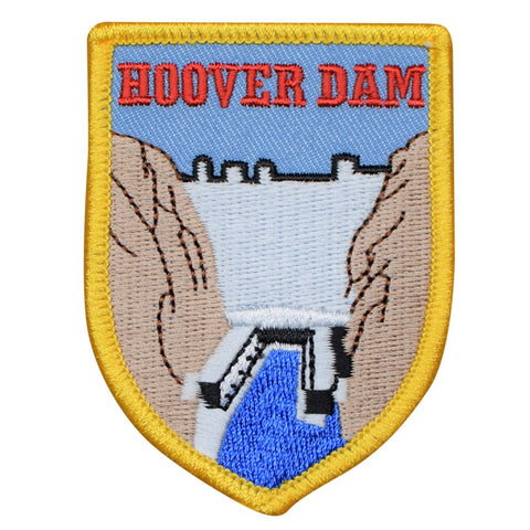 "Hoover Dam Patch - Nevada, Las Vegas, NV Hydroelectric Badge 2-7/8"" (Iron on)"