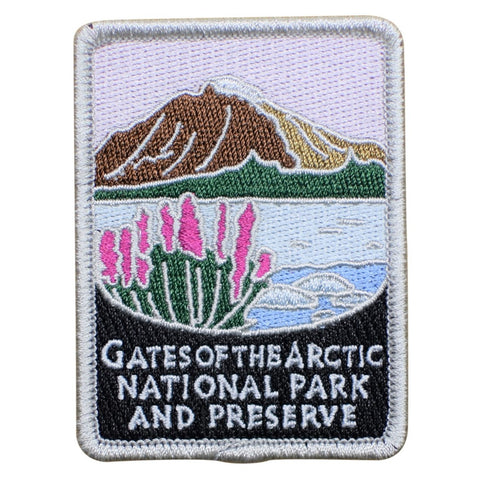 "Gates of the Arctic National Park Patch - Brooks Range, Alaska 3"" (Iron on)"
