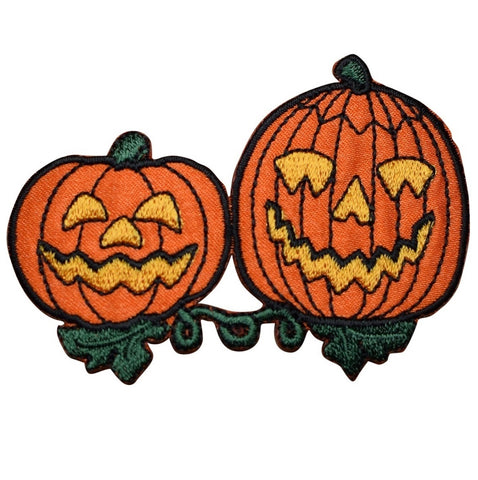 "Jack-O-Lantern Applique Patch - Halloween, Pumpkin Badge 3"" (Iron on)"