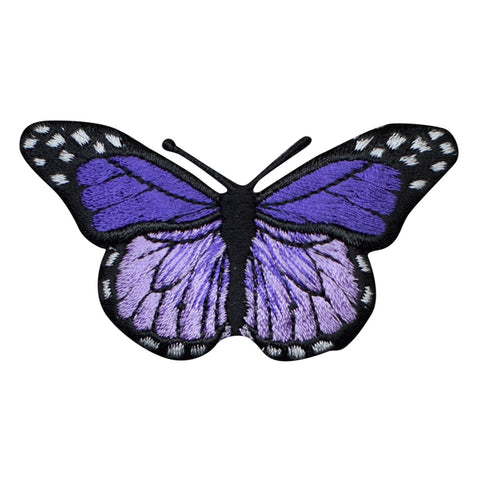 "Purple and Lavender Butterfly Applique Patch - Insect, Bug Badge 2-7/8"" (Iron on)"