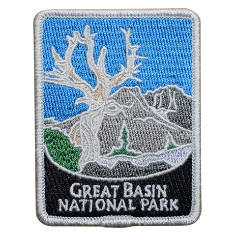 "Great Basin National Park Patch - Bristlecone Pine, Nevada Badge 3"" (Iron on)"