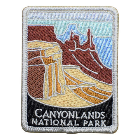 "Canyonlands National Park Patch - Utah, Traveler Series 3"" (Iron on)"