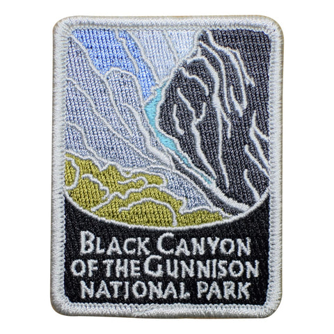 "Black Canyon of the Gunnison National Park Patch - Colorado, Official Traveler Series 3"" (Iron on)"